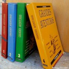 Libros de segunda mano: GRANDES AVENTURAS,EL PERIODICO 4 TOMOS. Lote 124562107