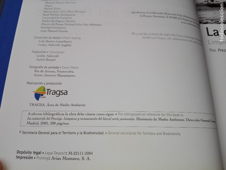 Libros de segunda mano: libro-la catastrofe del prestige-ministerio de medio ambiente-2005-288 páginas-sobrecubierta-nuevo - Foto 8 - 124568435