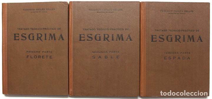 TRATADO TEÓRICO-PRÁCTICO DE ESGRIMA. - YNGLÉS SELLES, FEDERICO. (Libros de Segunda Mano - Ciencias, Manuales y Oficios - Otros)