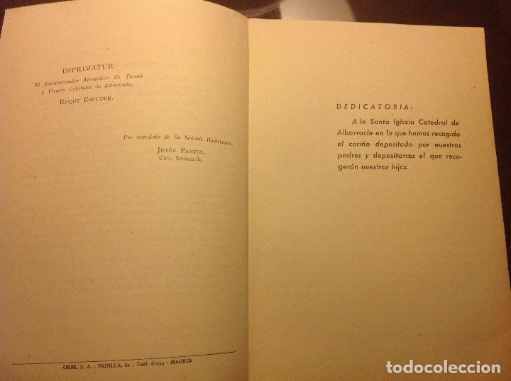 Libros de segunda mano: Albarracin. Noticias Historicas de la Ciudad. Candido Vazquez-Evaristo Cavero. - Foto 3 - 124909007
