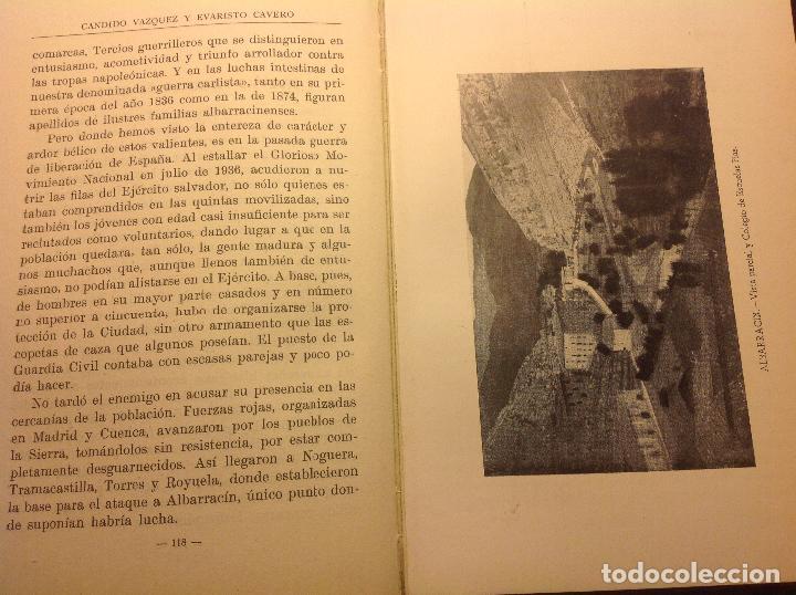 Libros de segunda mano: Albarracin. Noticias Historicas de la Ciudad. Candido Vazquez-Evaristo Cavero. - Foto 6 - 124909007