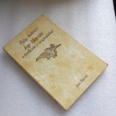 Libros de segunda mano: JORGE MANRIQUE O TRADICIÓN Y ORIGINALIDAD PEDRO SALINAS. Lote 137497724