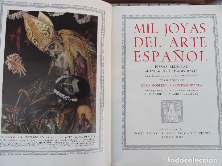 Libros de segunda mano: MIL JOYAS DEL ARTE ESPAÑOL VOL II (INSTITUTO GALLACH 1948 - Foto 2 - 125112391