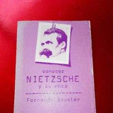Libros de segunda mano: LIBRO-CONOCER A NIETZSCHE Y SU OBRA-DOPESA 2-FERNANDO SAVATER-1977-1ªEDICIÓN-VER FOTOS. Lote 125166259
