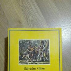 Libros de segunda mano: HISTORIA DEL PENSAMIENTO SOCIAL. SALVADOR GINER.. Lote 125237998