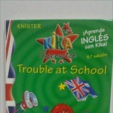 Libros de segunda mano: KIKA SUPERWITCH: TROUBLE AT SCHOOL APRENDER INGLÉS ES DIVERTIDO. Lote 125296103