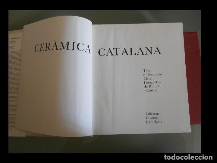 Libros de segunda mano: Ceràmica Catalana. Alexandre Cirici - Foto 6 - 125320275