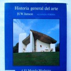 Libros de segunda mano: HISTORIA GENERAL DEL ARTE. H.W. JANSON EDITADO POR ALIANZA EDITORIAL 1991. 1315 PAGS.. Lote 125461775