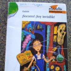 Libros de segunda mano: SOCORRO. SOY INVISIBLE -- GUDULE - EDELVIVES 1999 --. Lote 125825891