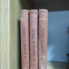 Libros de segunda mano: LA DECADENCIA DE OCCIDENTE - OSWALD SPENGLER - 3 TOMOS (1940) ESPASA CALVE. Lote 125868399