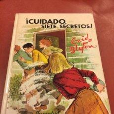 Libros de segunda mano: ENID BLYTON - CUIDADO, SIETE SECRETOS - EDITORIAL JUVENTUD N.20 - 119 PAGS.. Lote 125907643