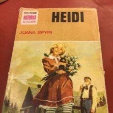 Libros de segunda mano: LOS HEIDI. CON PAGINAS ILUSTRADAS - 255 PAGS - COLECCION HISTORIAS SELECCION. Lote 125909035