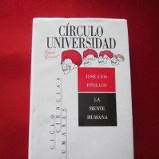 Libros de segunda mano: LIBRO-LA MENTE HUMANA-JOSÉ LUÍS PINILLOS-1988-C. DE LECTORES-MUY BUEN ESTADO-SOBRECUBIERTA-VER FOT. Lote 125917607