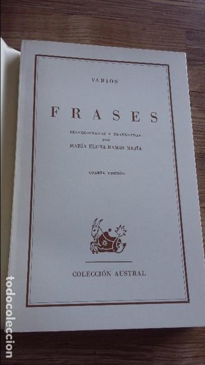 Frases 1966 Colección Austral Editorial Espasa Calpe