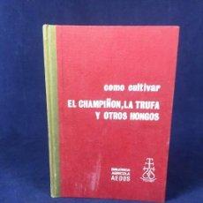 Libros de segunda mano: COMO CULTIVAR EL CHAMPIÑON.LA TRUFA Y OTROS HONGOS.-JOSE FERRAN .BIBLIOTECA AGRICOLA AEDOS 1969. Lote 126022191