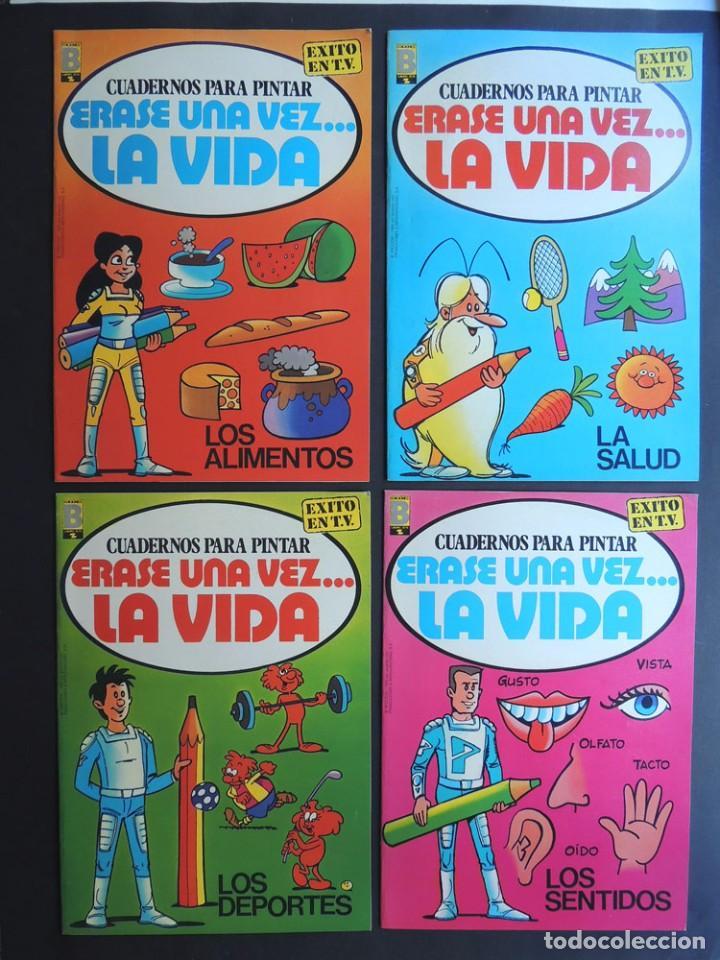 4 CUADERNOS PARA PINTAR / ERASE UNA VEZ LA VIDA / COLECCION COMPLETA / EDICIONES B - 1985 / SIN USAR (Libros de Segunda Mano - Literatura Infantil y Juvenil - Otros)