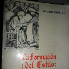 Livros em segunda mão: LA FORMACIÓN DEL ESTILO, LUIS ALONSO SCHÖKEL, ED. SAL TERRAE. Lote 126043455