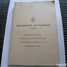 Libros de segunda mano: LIBRETO AYUNTAMIENTO DE FUSTIÑANA NAVARRA. Lote 126052215