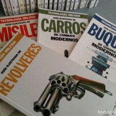 Libros de segunda mano: TECNOLOGÍA MILITAR - 30 GUÍAS ILUSTRADAS (AVIONES, BUQUES, CARROS, ARMAMENTO...) - ORBIS, 1986. Lote 126100995