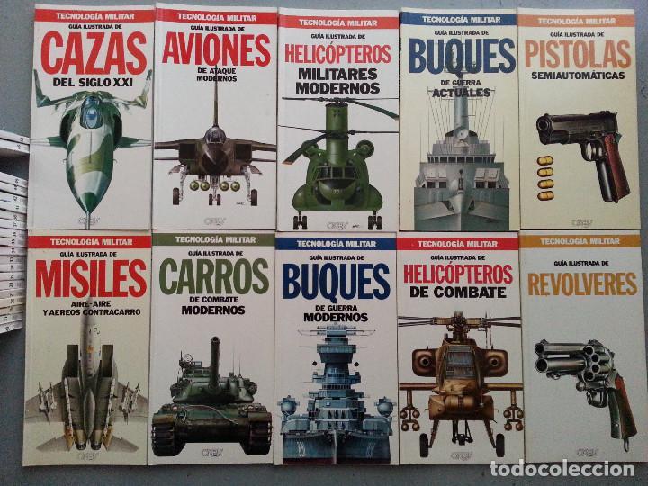 Libros de segunda mano: TECNOLOGÍA MILITAR - 30 GUÍAS ILUSTRADAS (AVIONES, BUQUES, CARROS, ARMAMENTO...) - ORBIS, 1986 - Foto 4 - 126100995