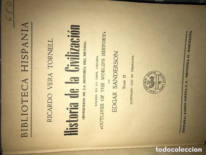 Libros de segunda mano: ANTIGUO LIBRO HISTORIA DE LA CIVILIZACIÓN TOMO II SOPENA - Foto 6 - 126335039
