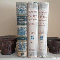 Libros de segunda mano: CERAMICA DEL LEVANTE ESPAÑOL.3 TOMOS.MANUEL GONZALEZ MARTI. Lote 126353767