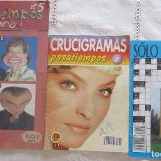 Libros de segunda mano: TRES ANTIGUOS EJEMPLARES DE PASATIEMPOS. DOS DE EDICIONES MARBE. Lote 126356967