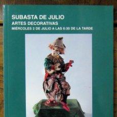 Libros de segunda mano: CATALOGO SUBASTAS SEGRE, JULIO 2014 - ARTES DECORATIVAS, AUTOMATAS, JUGUETES. Lote 126383395
