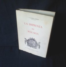 Libros de segunda mano: P. ANDRES LLORDEN - LA IMPRENTA EN MALAGA TOMO I - 1973. Lote 126620423