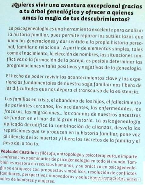 Libros de segunda mano: PSICOGENEALOGÍA APLICADA - PAOLA DEL CASTILLO - ED. OBELISCO 2013 - VER INDICE - Foto 2 - 126729663