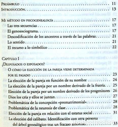 Libros de segunda mano: PSICOGENEALOGÍA APLICADA - PAOLA DEL CASTILLO - ED. OBELISCO 2013 - VER INDICE - Foto 3 - 126729663