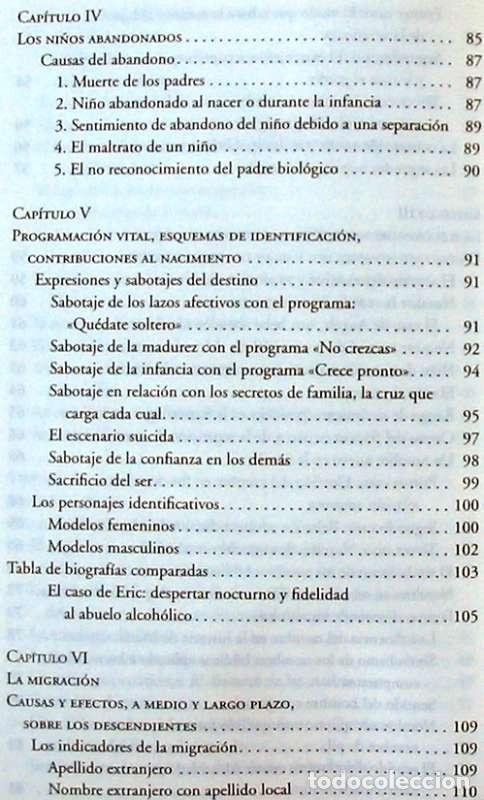 Libros de segunda mano: PSICOGENEALOGÍA APLICADA - PAOLA DEL CASTILLO - ED. OBELISCO 2013 - VER INDICE - Foto 6 - 126729663