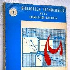 Libros de segunda mano: PROBLEMAS DE TECNOLOGÍA DEL TORNO POR Z. CARLOS SOLAR DE BIBLIOTECA TEC. FAB. MEC. EN GIJÓN 1964. Lote 147783713