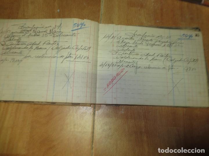 Libros de segunda mano: ANTIGUO LIBRO MANUSCRITO DE ALICANTE 160 PGS AGENCIA ALICANTINA - Foto 6 - 146598174