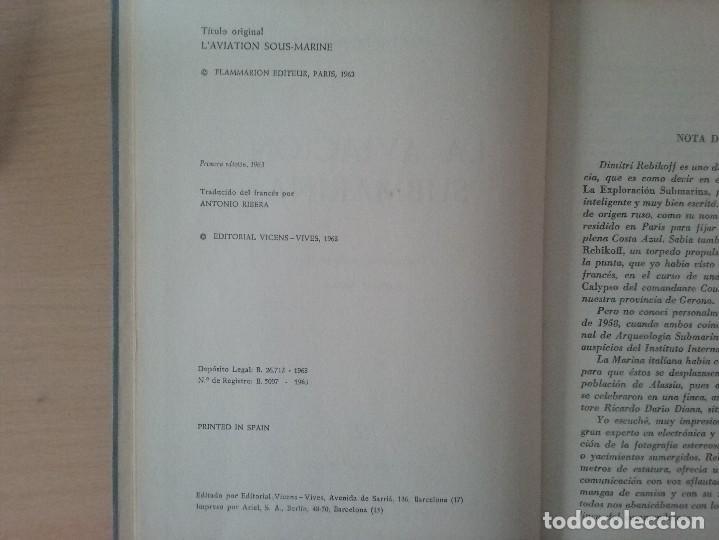 Libros de segunda mano: LA AVIACIÓN SUBMARINA. DIMITRI REBIKOFF - Foto 5 - 127447839