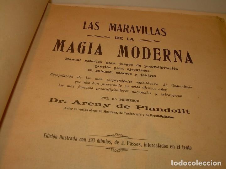 LAS MARAVILLAS DE LA MAGIA MODERNA..AÑOS 20-30...CON INFINIDAD DE GRABADOS. (Libros de Segunda Mano - Parapsicología y Esoterismo - Otros)
