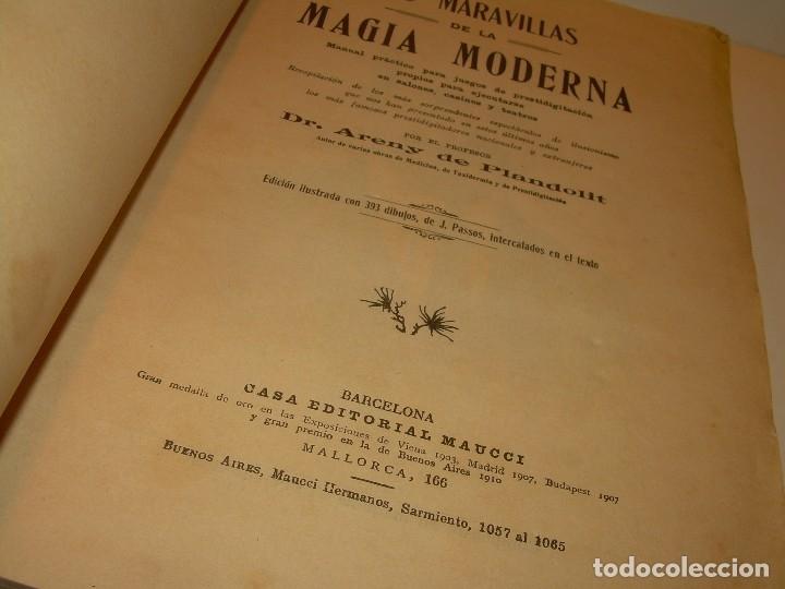 Libros de segunda mano: LAS MARAVILLAS DE LA MAGIA MODERNA..AÑOS 20-30...CON INFINIDAD DE GRABADOS. - Foto 5 - 127452575