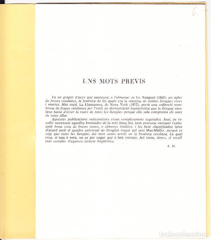 Libros de segunda mano: EL CATALA MARE DE TOTES LES LLENGUES - 1979 - HUMORADA FONETICA - Foto 2 - 127488899