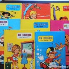 Second hand books - MIS COLORES - SERIE ESPECIAL ( COMPLETA - 8 CUADERNOS GRANDES ) ILUSTRA AYNE / ED. TORAY 1973 - 127562771