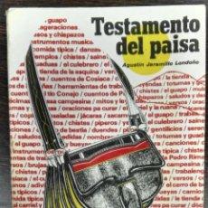 Livros em segunda mão: AGUSTÍN JARAMILLO LONDOÑO, TESTAMENTO DEL PAISA, MEDELLÍN (COLOMBIA), 1986, ETNOGRAFÍA. Lote 127582239