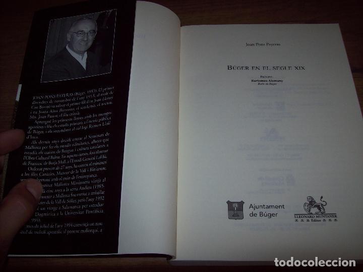 Libros de segunda mano: BÚGER EN EL SEGLE XIX. JOAN PONS. AJUNTAMENT DE BURGOS.LLEONARD MUNTANER. 1ª EDICIÓ 2012 . MALLORCA. - Foto 3 - 127686951