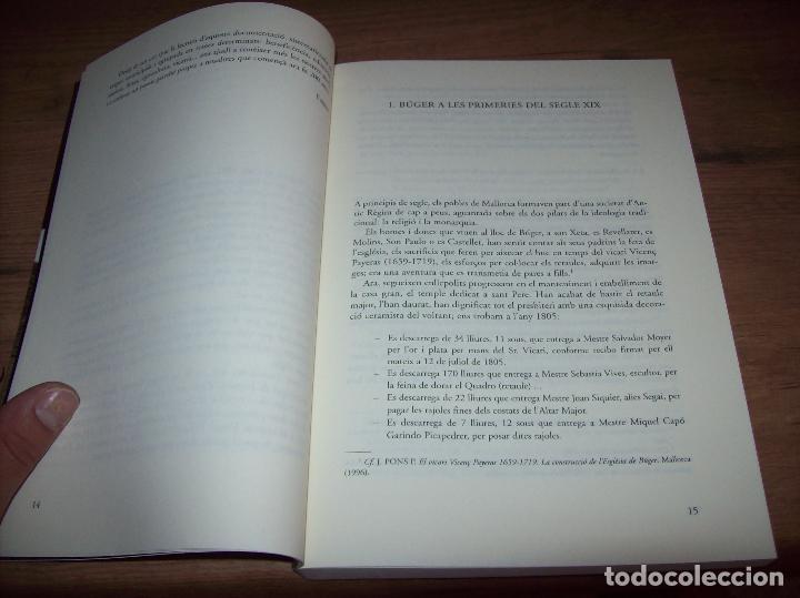 Libros de segunda mano: BÚGER EN EL SEGLE XIX. JOAN PONS. AJUNTAMENT DE BURGOS.LLEONARD MUNTANER. 1ª EDICIÓ 2012 . MALLORCA. - Foto 4 - 127686951