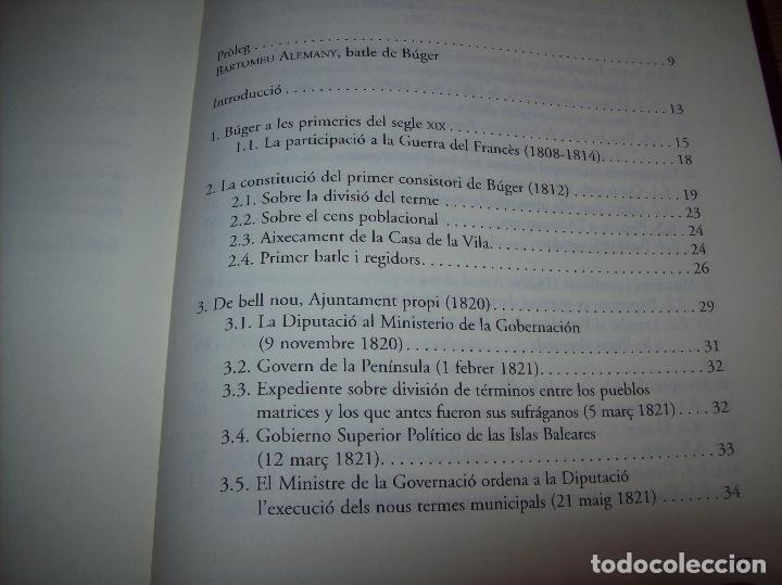 Libros de segunda mano: BÚGER EN EL SEGLE XIX. JOAN PONS. AJUNTAMENT DE BURGOS.LLEONARD MUNTANER. 1ª EDICIÓ 2012 . MALLORCA. - Foto 18 - 127686951