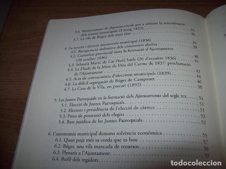 Libros de segunda mano: BÚGER EN EL SEGLE XIX. JOAN PONS. AJUNTAMENT DE BURGOS.LLEONARD MUNTANER. 1ª EDICIÓ 2012 . MALLORCA. - Foto 19 - 127686951