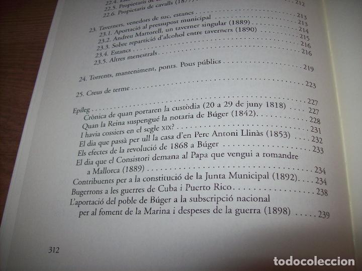 Libros de segunda mano: BÚGER EN EL SEGLE XIX. JOAN PONS. AJUNTAMENT DE BURGOS.LLEONARD MUNTANER. 1ª EDICIÓ 2012 . MALLORCA. - Foto 28 - 127686951