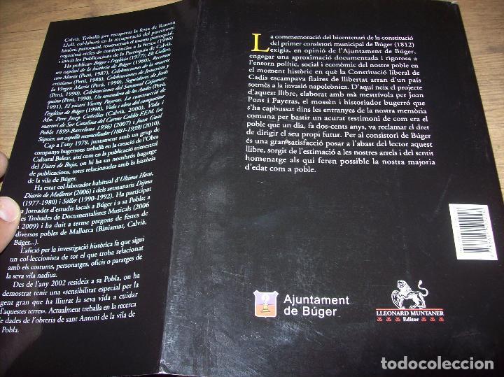 Libros de segunda mano: BÚGER EN EL SEGLE XIX. JOAN PONS. AJUNTAMENT DE BURGOS.LLEONARD MUNTANER. 1ª EDICIÓ 2012 . MALLORCA. - Foto 32 - 127686951