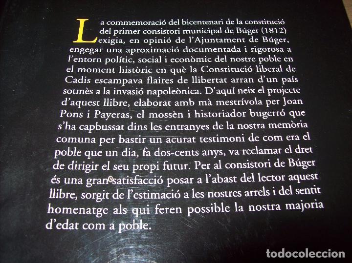 Libros de segunda mano: BÚGER EN EL SEGLE XIX. JOAN PONS. AJUNTAMENT DE BURGOS.LLEONARD MUNTANER. 1ª EDICIÓ 2012 . MALLORCA. - Foto 33 - 127686951