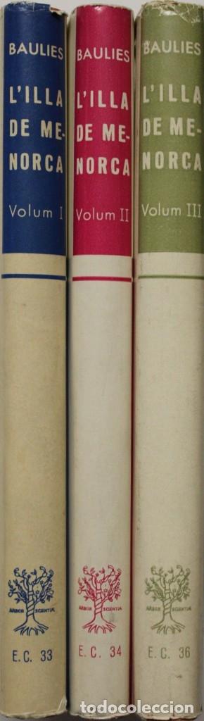 L'ILLA DE MENORCA. - BAULIES, JORDI. BARCELONA, 1964-65-67. (Libros de Segunda Mano - Historia - Otros)