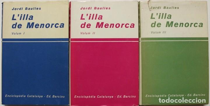 Libros de segunda mano: L'ILLA DE MENORCA. - BAULIES, Jordi. Barcelona, 1964-65-67. - Foto 2 - 123162728