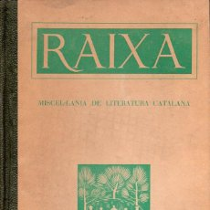 Libros de segunda mano: RAIXA - MISCEL.LÀNIA DE LITERATURA CATALANA (MALORCA, 1953). Lote 127834987